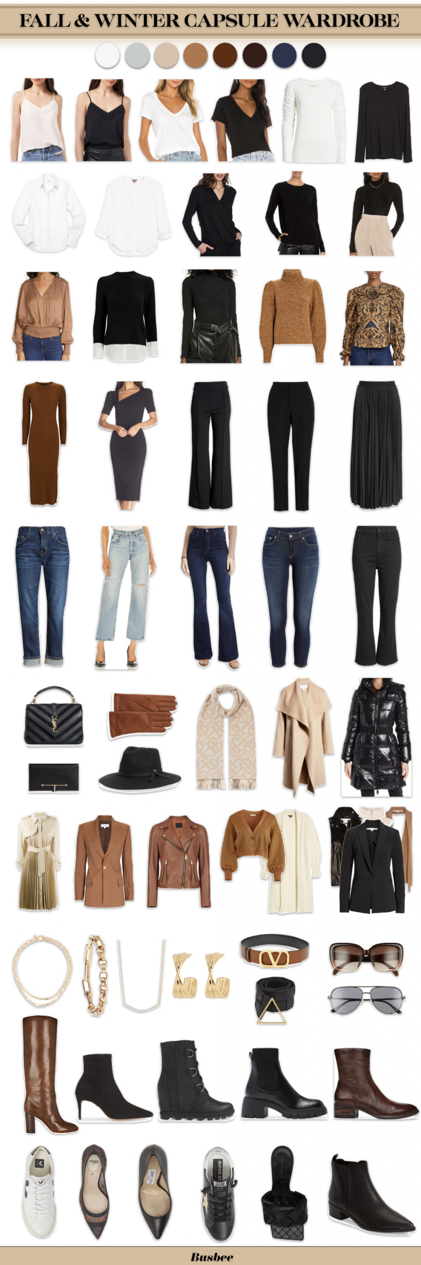 capsule wardobre, fall wardrobe absics, winter wardrobe basics, must have wardrobe basics, erin busbee, what to buy for fall, fall outfits, winter outfits, wardrobe basics