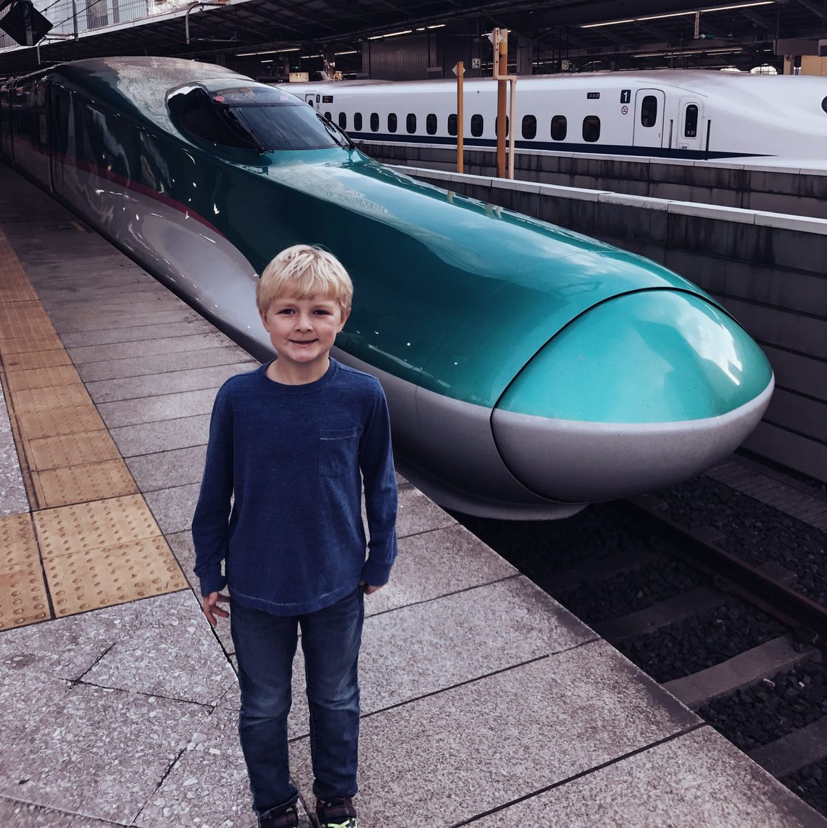 picture of the bullet train in tokyo japan