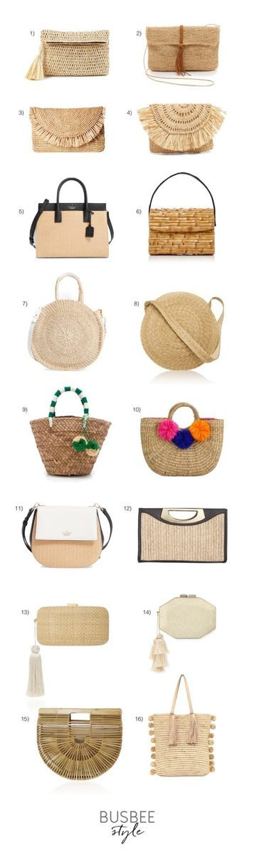 Basket bags are very much on trend, in fashion for summer 2017! These neutral bags are also very versatile and will work well with almost everything in your wardrobe.