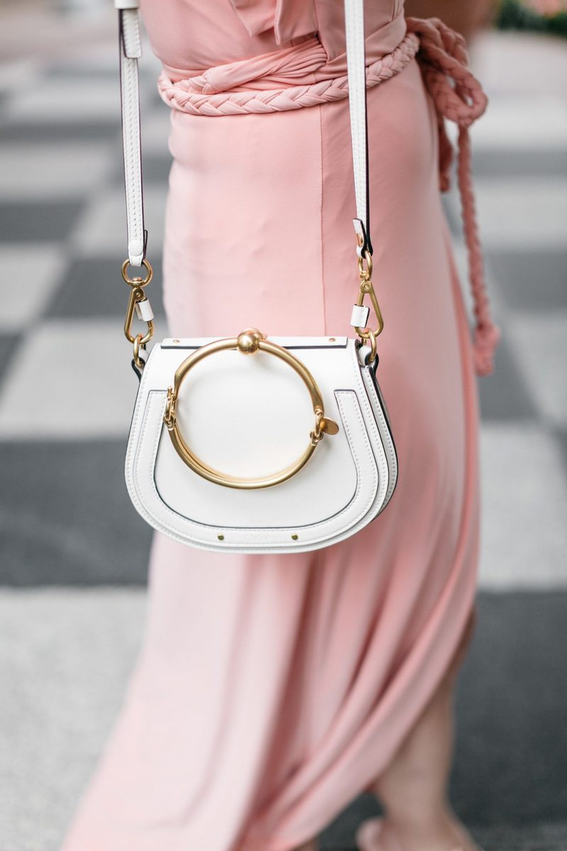 Chloe Nile Bag has been restocked in WHITE from Neiman Marcus