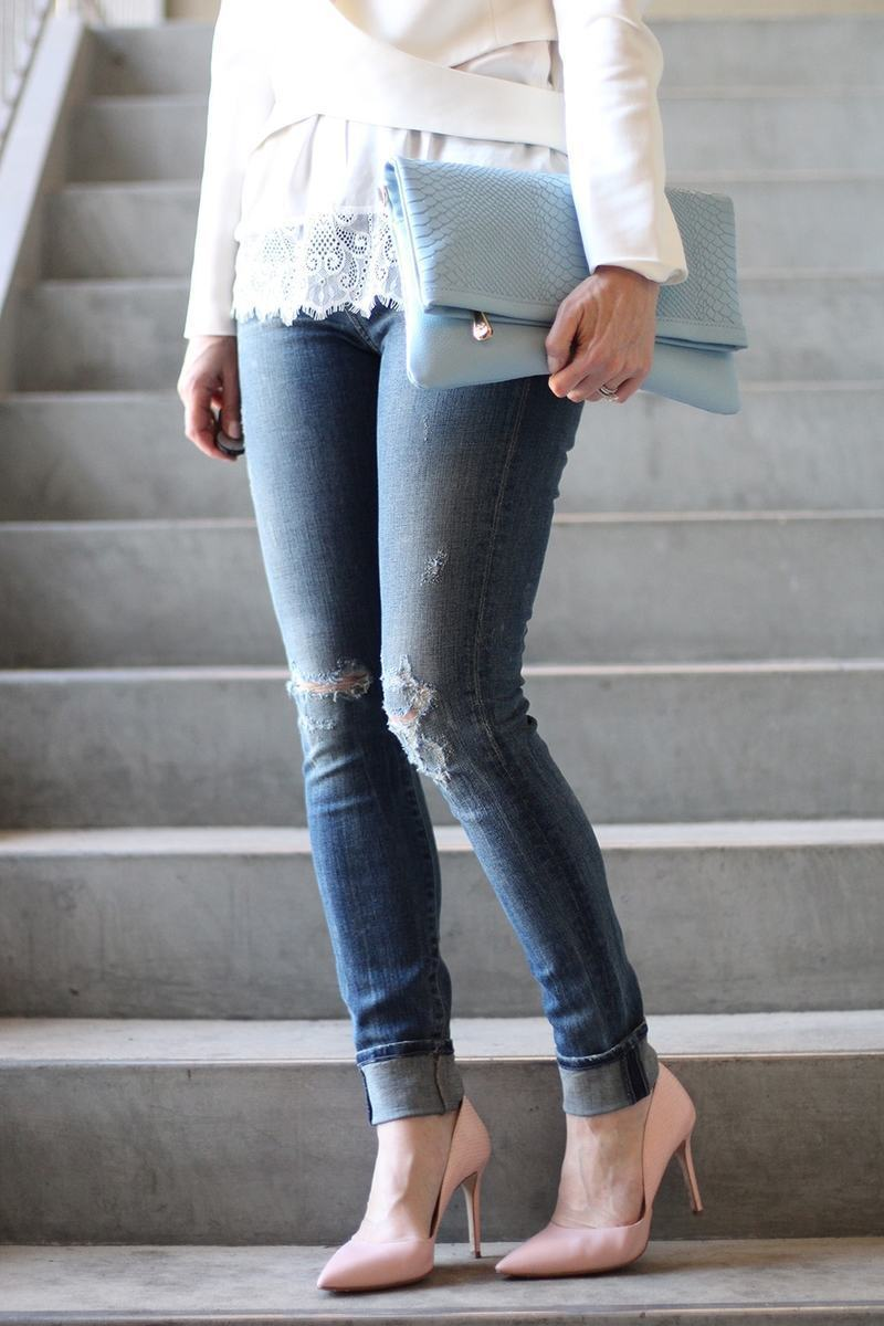 Wardrobe Basics, importance of basics in your wardrobe, and sale listings, featuring mytheresa.com and these edgy and super flattering high rise slightly distressed vintage jeans by Citizens of Humanity