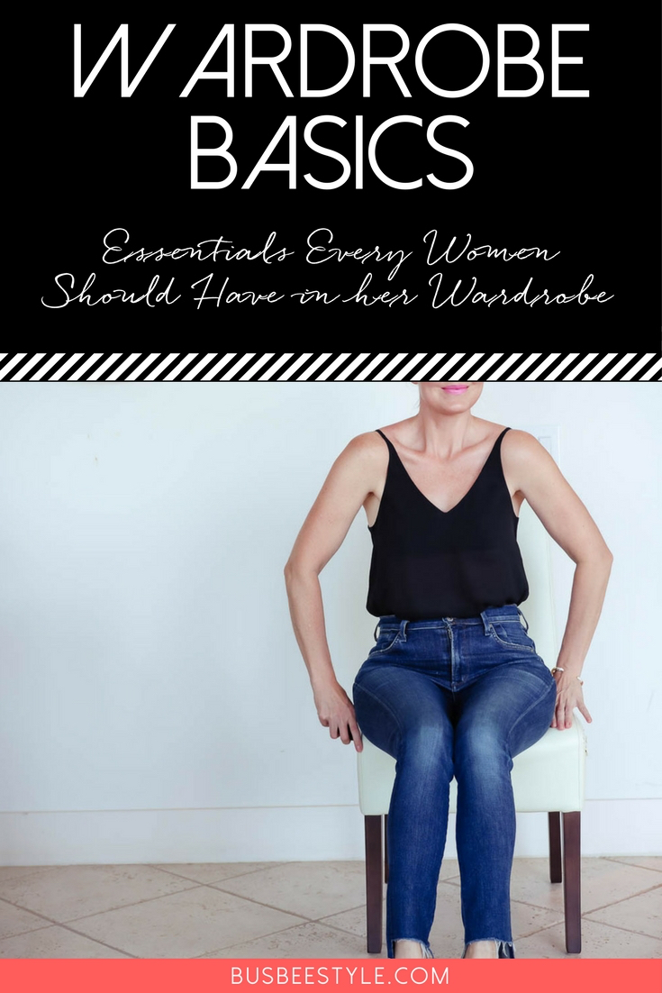 Wardrobe Basics Checklist and the importance of wardrobe basics with fashion blogger and youtuber, Erin Busbee, Busbee Style