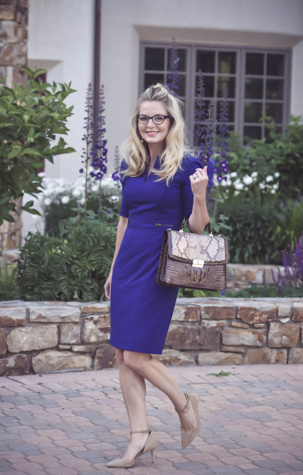 Business casual outfit idea, power suit, dress, fashion over 40