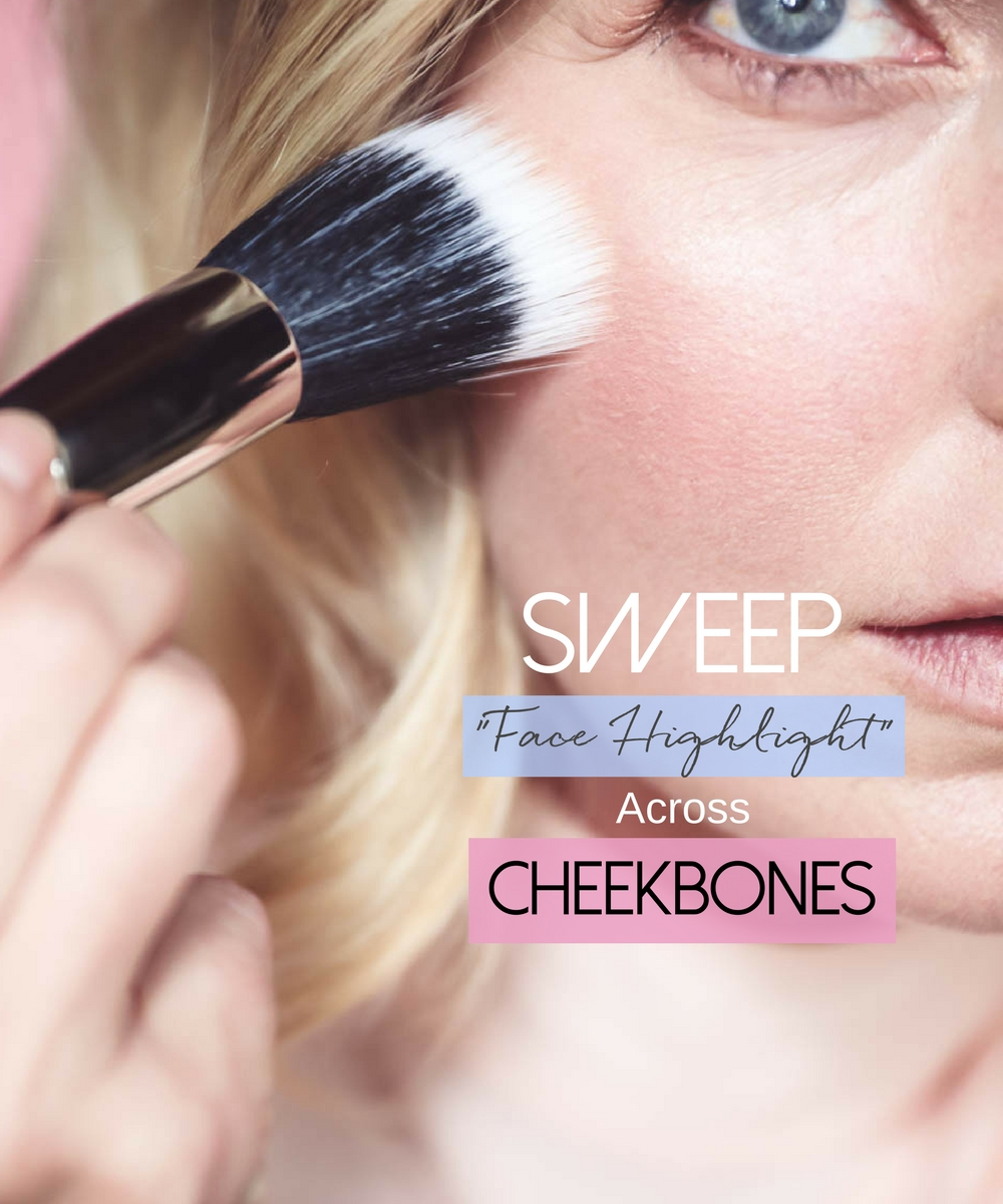 5-Minute makeup routine featuring charlotte tilbury instant look palette, cheek highlighter