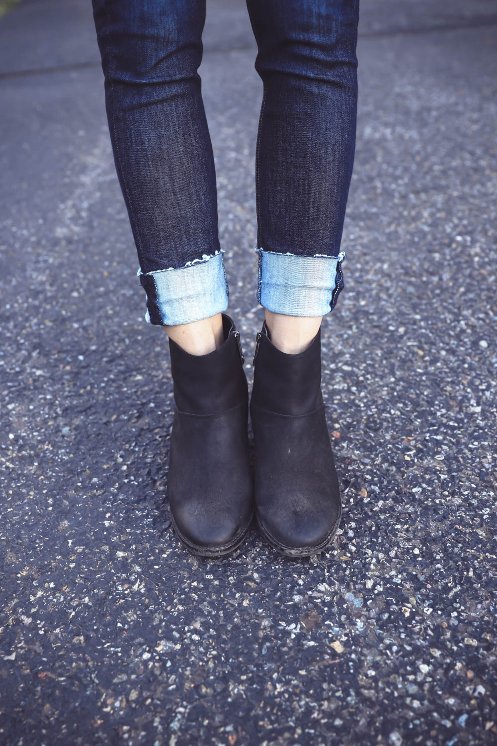 Ankle Boots, How to wear skinny jeans with ankle boots, try cropped jeans, by fashion blogger over 40, Erin busbee, Telluride, Colorado