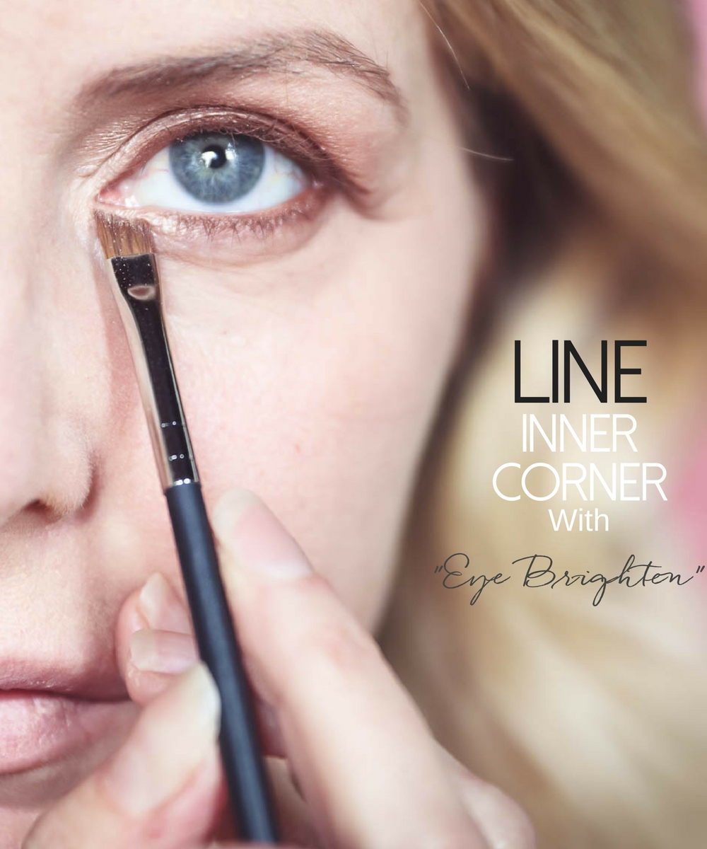 5-Minute makeup routine featuring charlotte tilbury instant look in a palette, lining inner corner of eyes with eye brighten