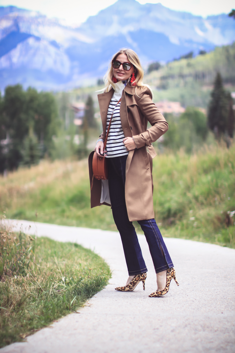Trench Coat Styled 5 Ways | Fashion Over 40 | Busbee Style, sweater and flare pants