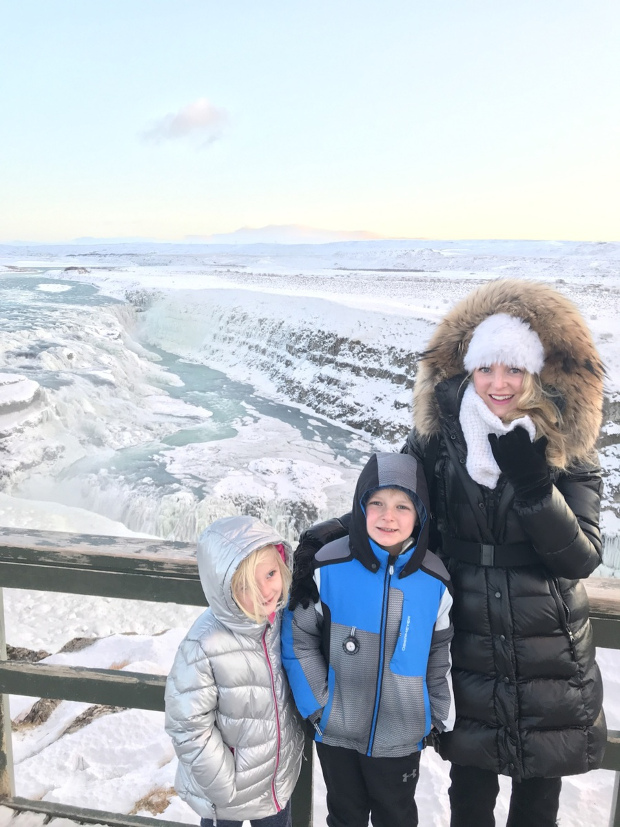 Iceland Trip | Gullfoss waterfall in Iceland, worth seeing with lifestyle blogger Erin Busbee of Busbee Style