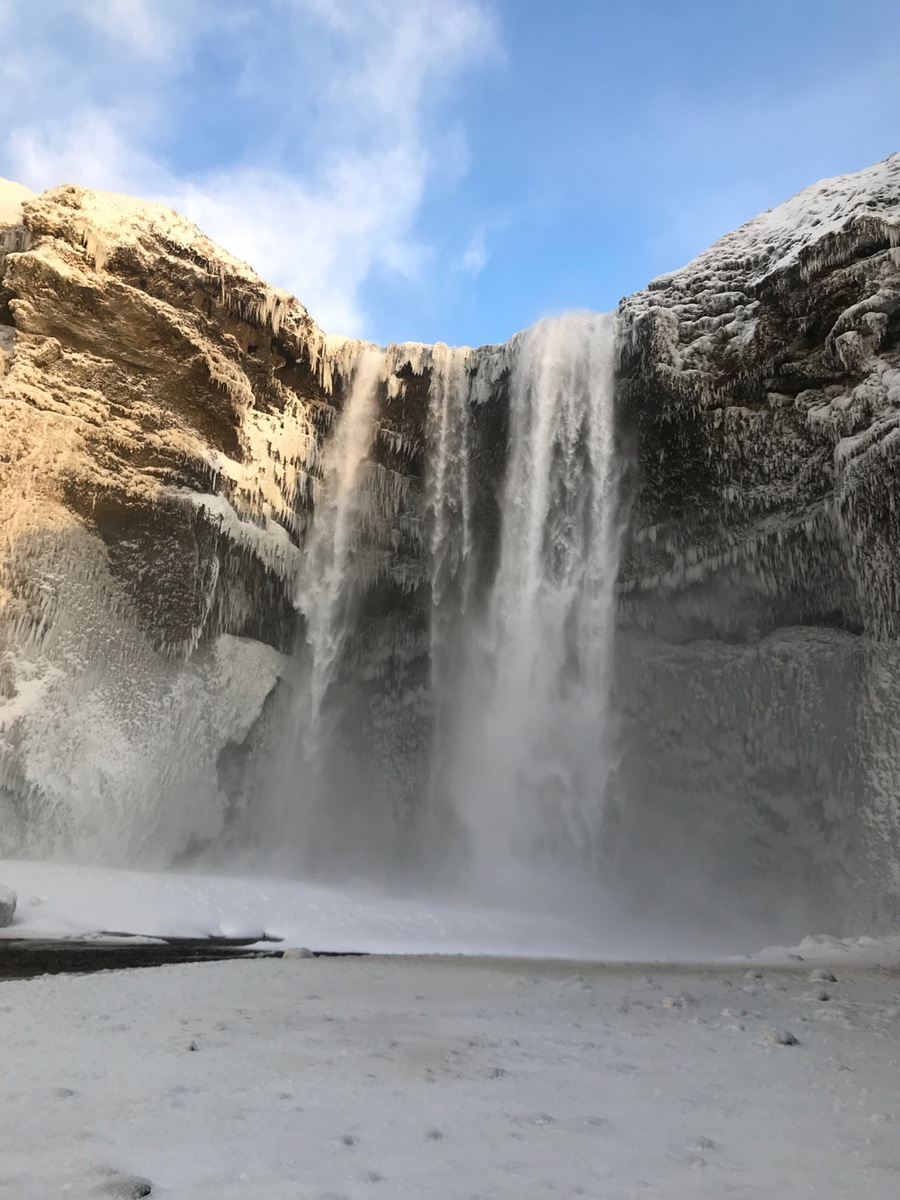Iceland Trip | Visiting Skogafoss waterfall in Iceland along the golden circle tour