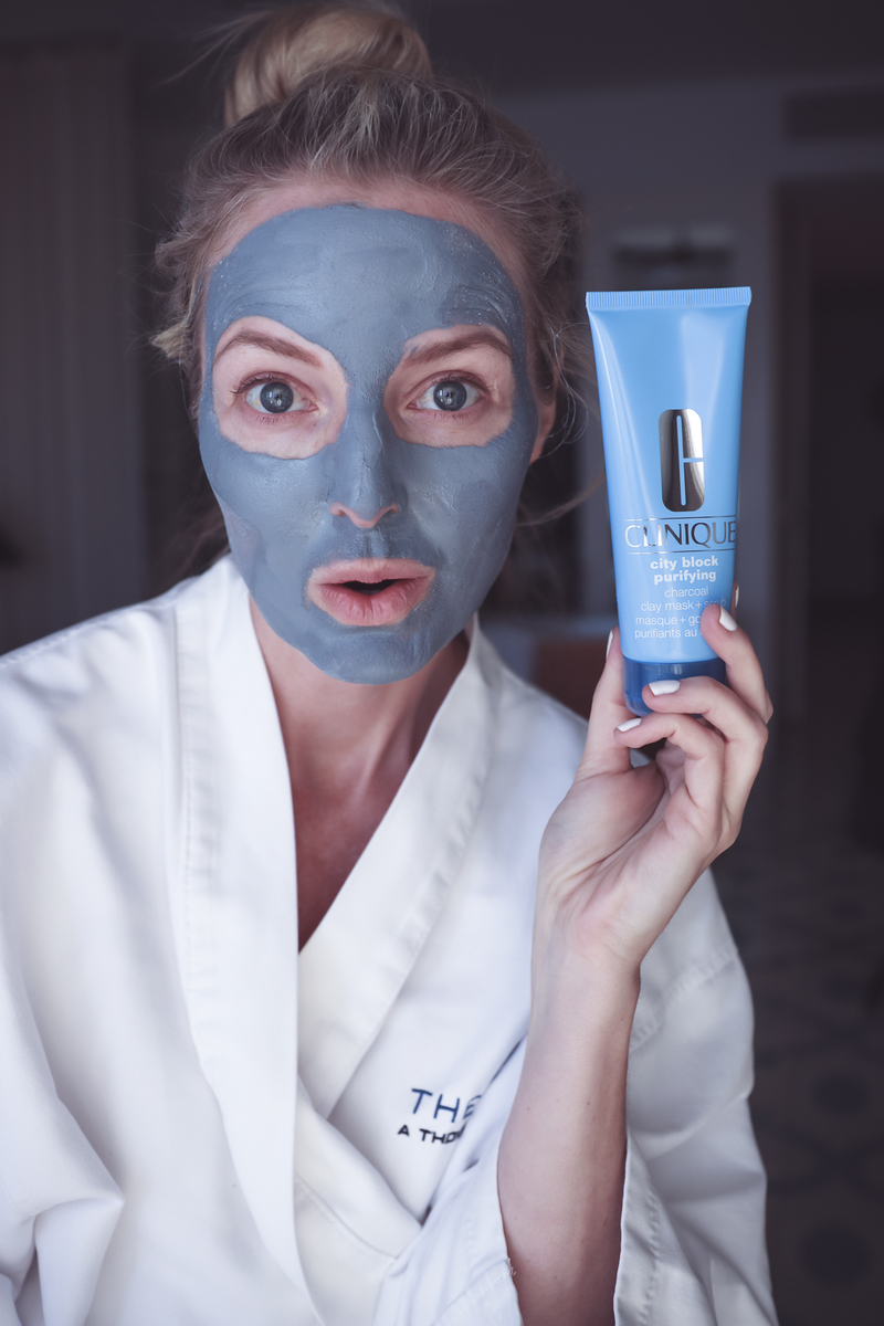 Flawless skin, tips for glowing, youthful skin, use a charcoal mask, a Korean beauty secret, like Clinique's charcoal purifying mask. Reviewed by beauty blogger, Erin Busbee of Busbee Style, beauty over 40
