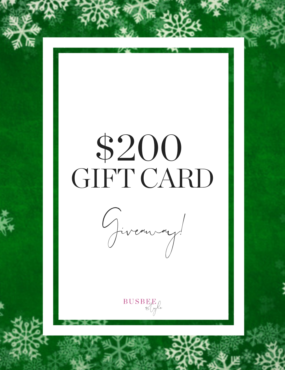 gift card shopping giveaway
