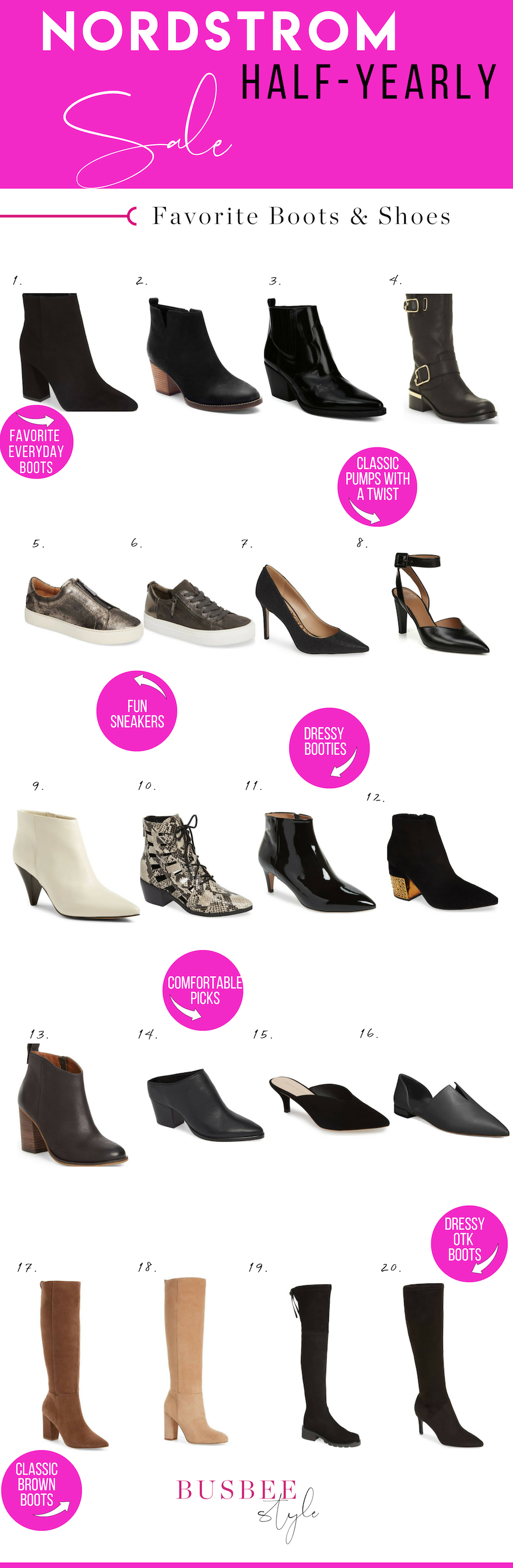 Erin Busbee of BusbeeStyle.com sharing 20 fof the best boots and shoes from the Nordstrom Half Yearly Sale of 2018
