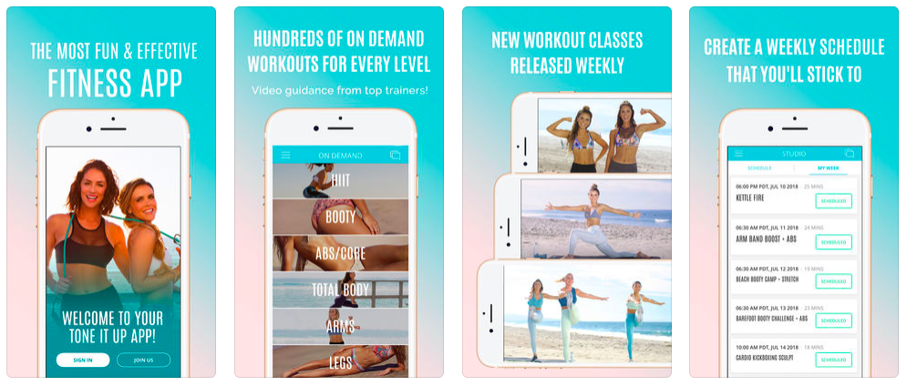 Workout apps, Tone it Up app