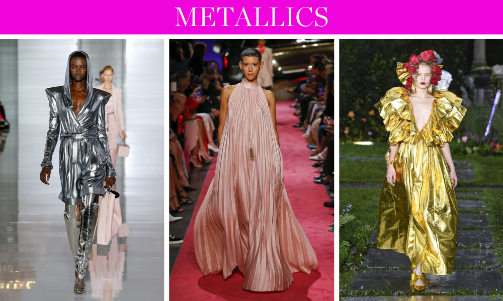 Spring Trends for 2019 by fashion blogger Erin Busbee of BusbeeStyle.com including metallics like silver, gold, blues, pinks, and more