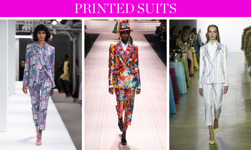 Spring Trends for 2019 by fashion blogger Erin Busbee of BusbeeStyle.com including matching printed suits