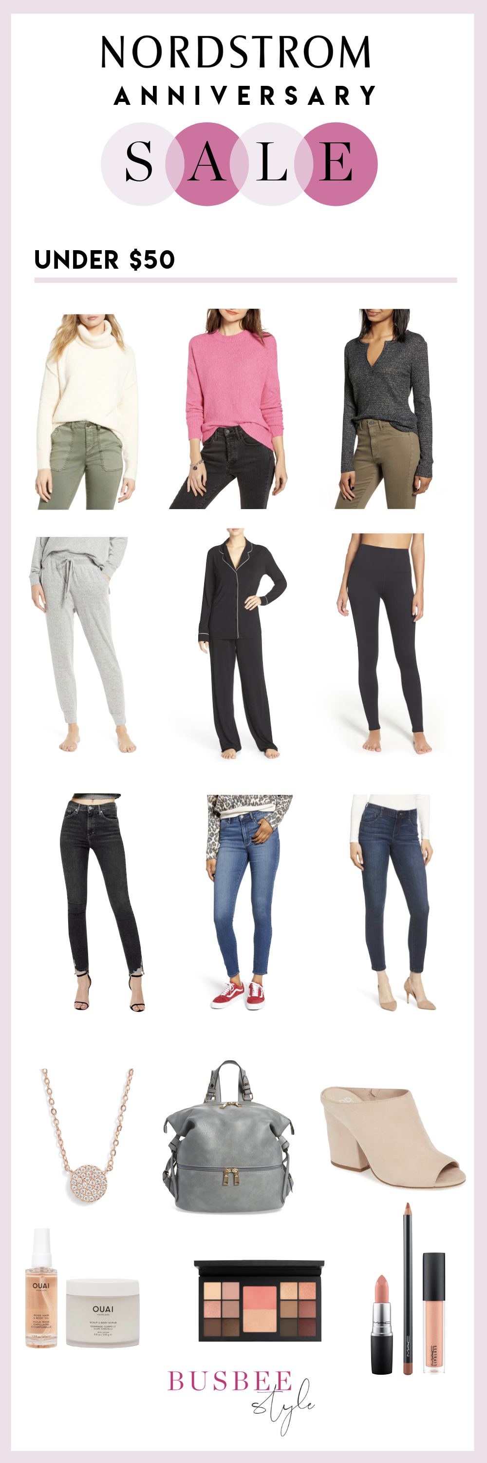 Under $50, Fashion blogger Erin Busbee of BusbeeStyle.com sharing her favorites under $50 from the Nordstrom Anniversary Sale 2019