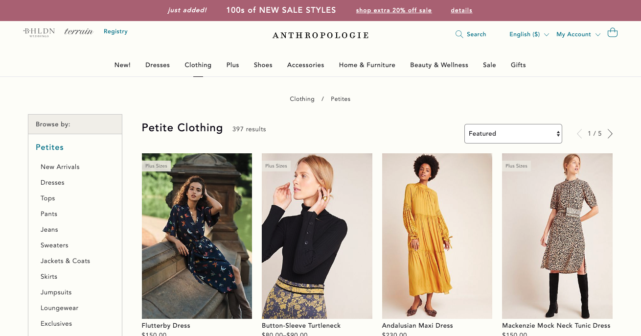 Best brands for petite women, Fashion blogger Erin Busbee of BusbeeStyle.com sharing 5 great brands to shop for petite women including Anthropologie