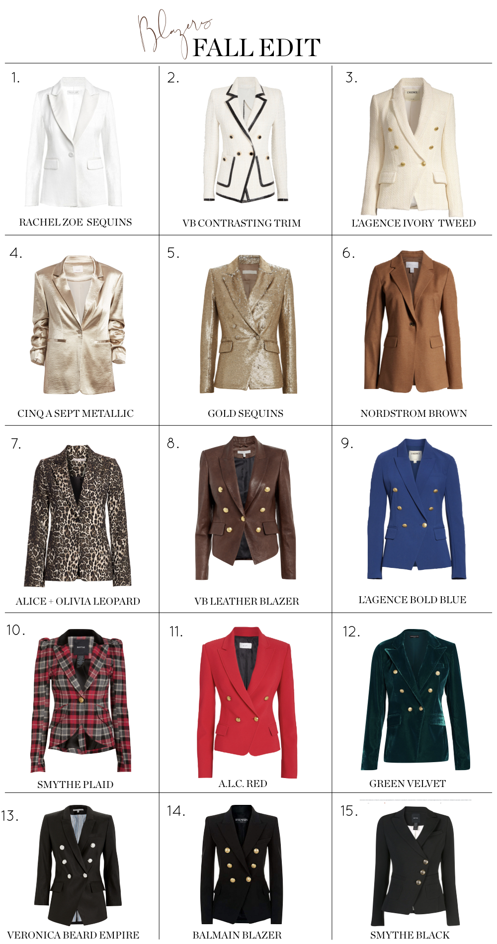 Fall Blazers, Fashion blogger Erin Busbee of BusbeeStyle.com sharing 15 luxe blazers that are perfect for fall