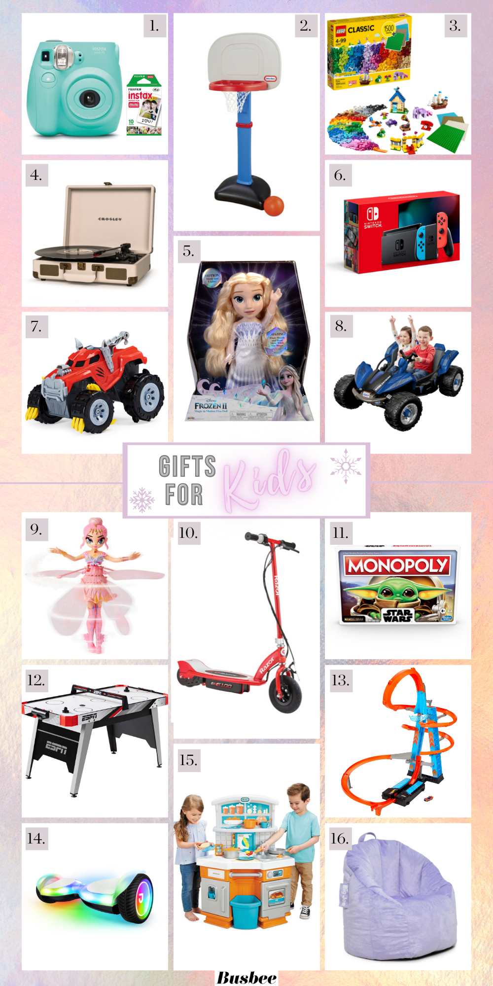 Gifts For Kids, Erin Busbee of Busbee Style sharing the best gifts for kids of all ages all from Walmart.com