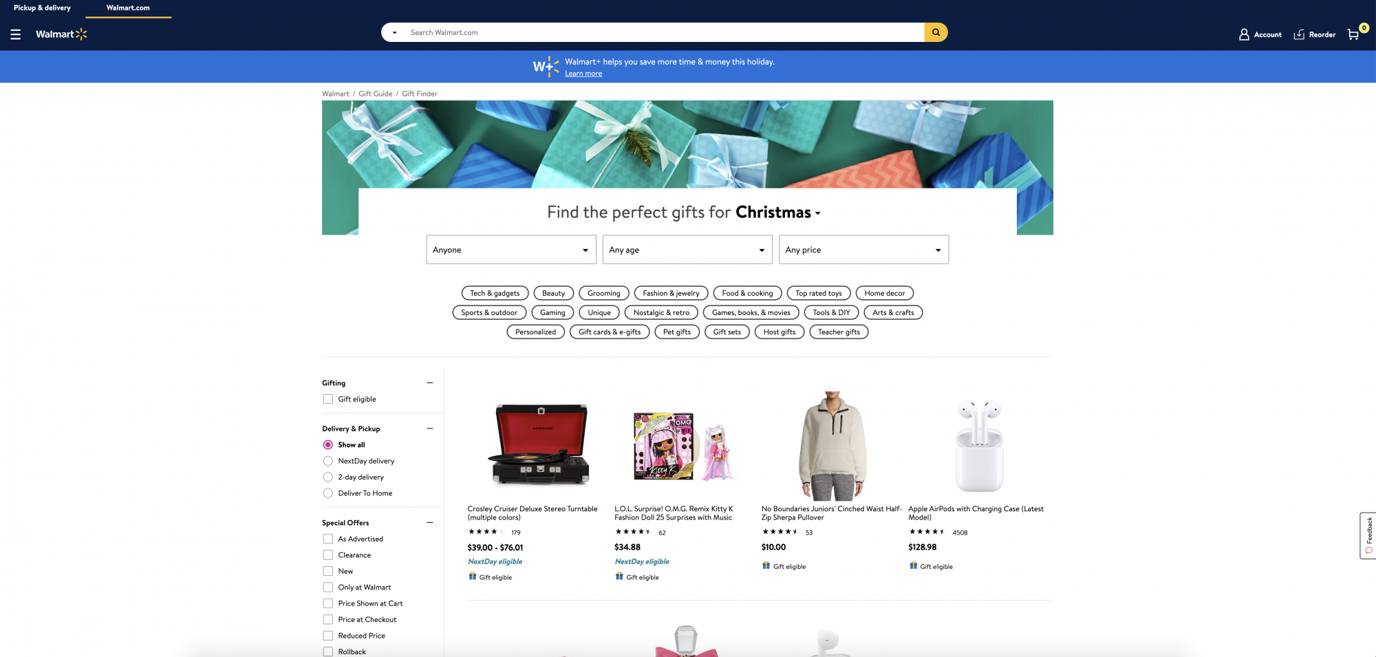 Gifts For Kids, Erin Busbee of Busbee Style sharing the best gifts for kids of all ages and how to use the Gift Finder Tool on Walmart.com