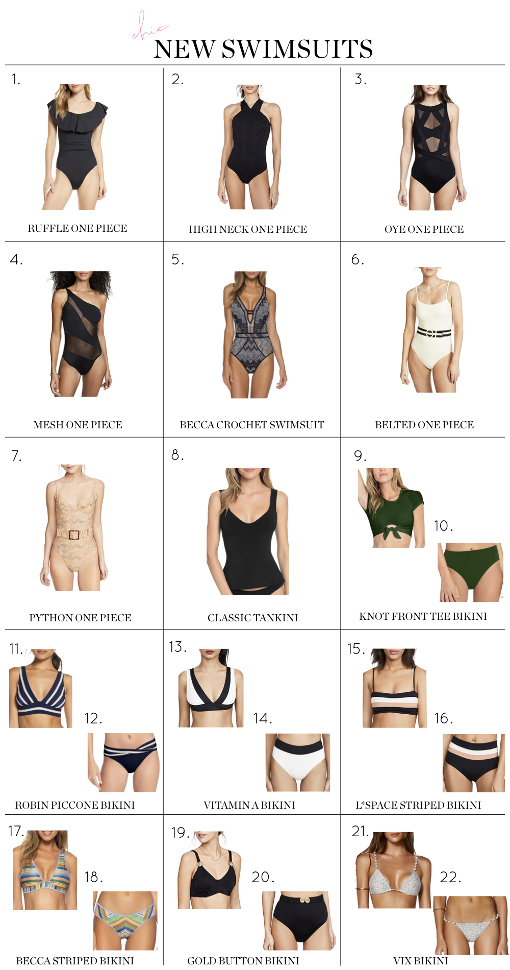 Best Swimsuits For Summer, swimsuits, one pieces and bikinis age appropriate flattering for women over 40 summer 2020