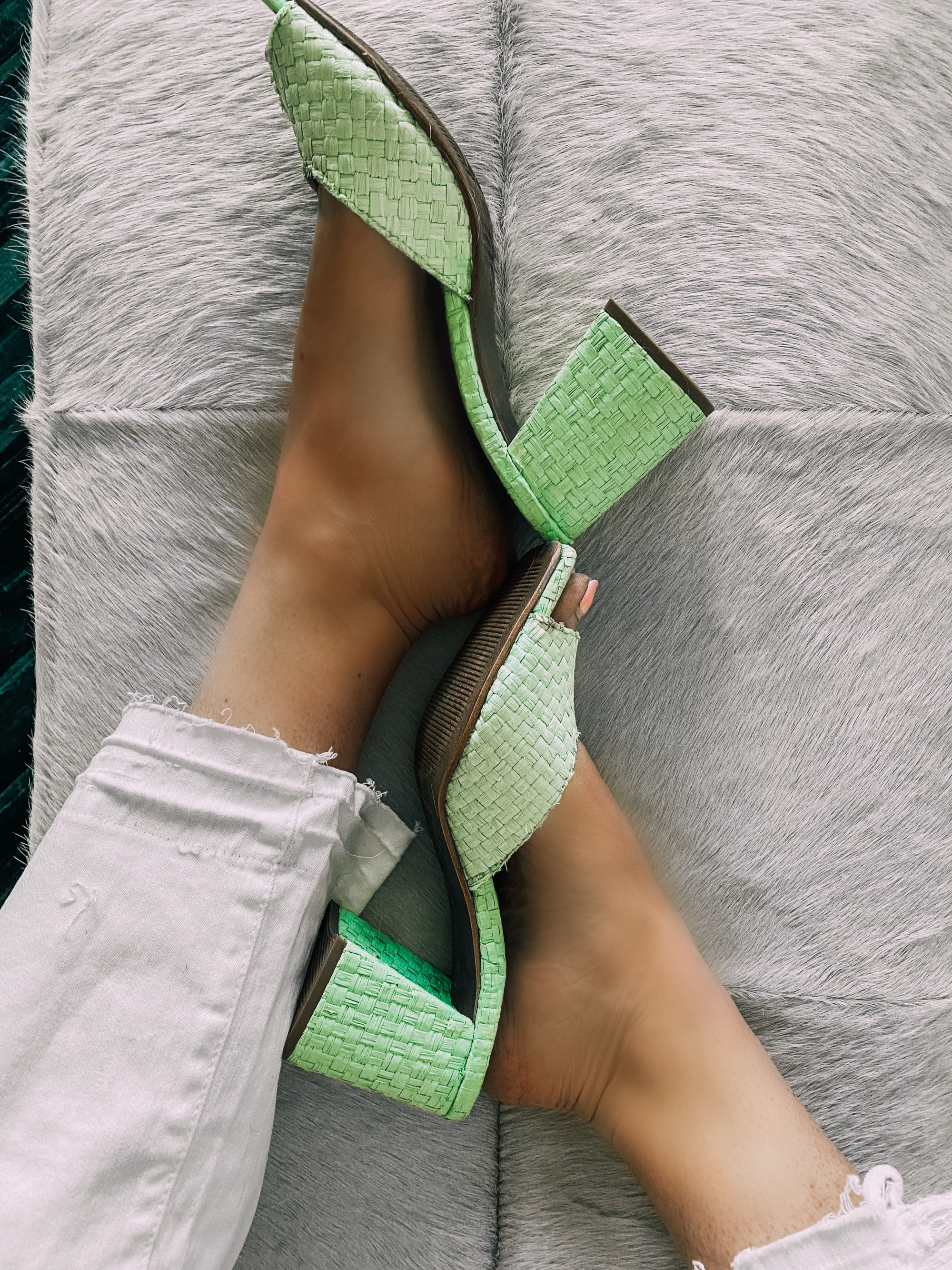 mint green Jeffrey Campbell sandals spring pastel fashion outfit