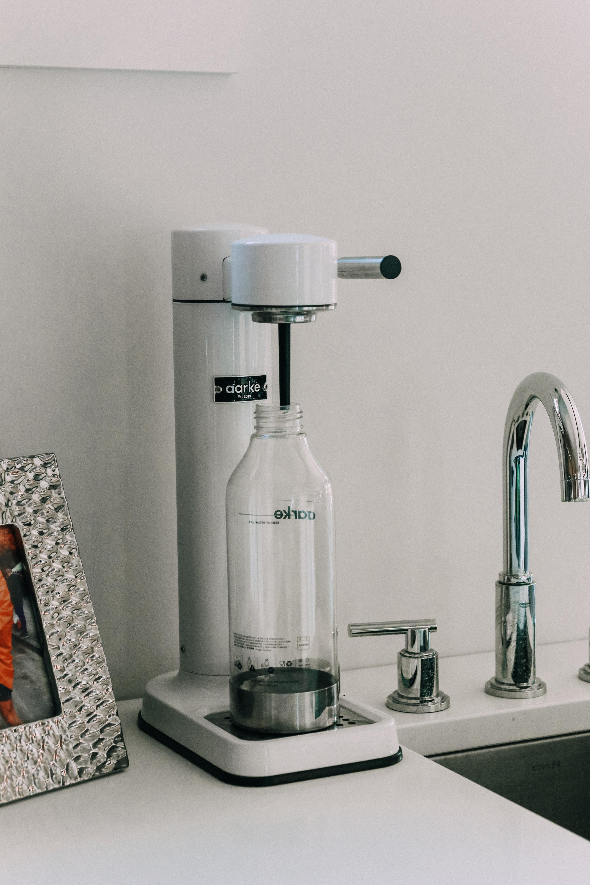 carbonator on wet bar or coffee station