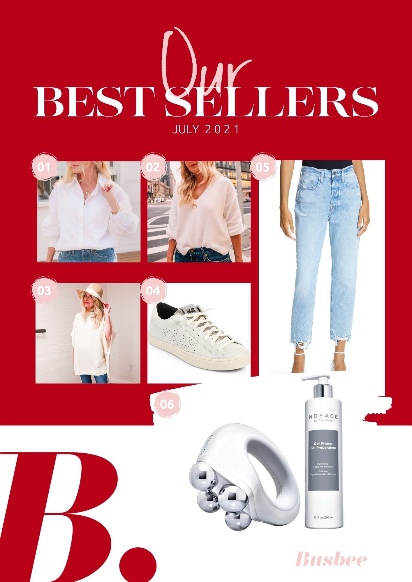 july best sellers, erin busbee, read favorites, best selelrs, nordstrom best sellers, nordstrom, nordstrom anniversary sale, open edit white button down, free people princess sweater, nordstrom wool & cashmere poncho, p448 john low top sneakers, frame le original cropped ripped jeans, nubody toning device