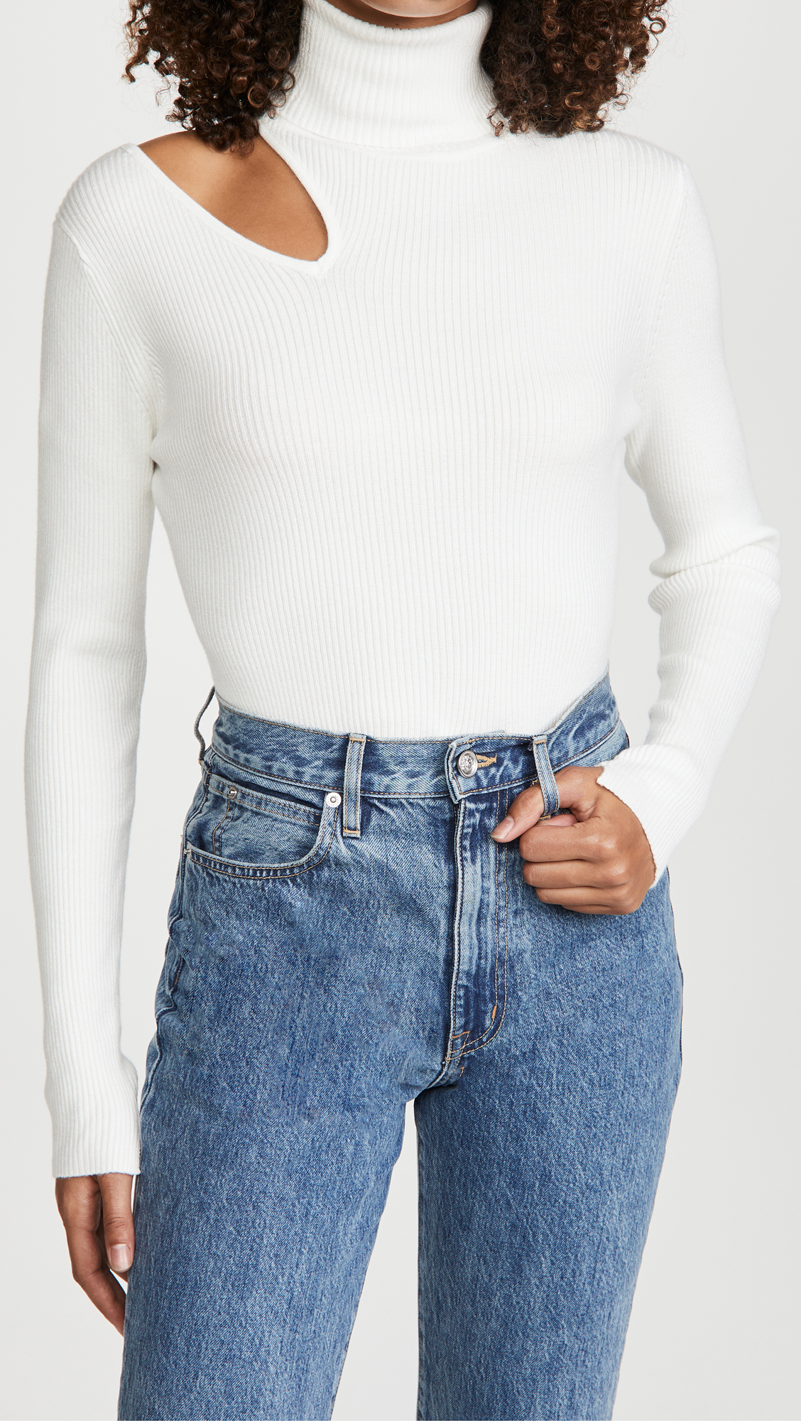 October Best Sellers, Erin Busbee of Busbee Style sharing the ASTR The Label Vivi sweater in white as one of the best sellers for the month
