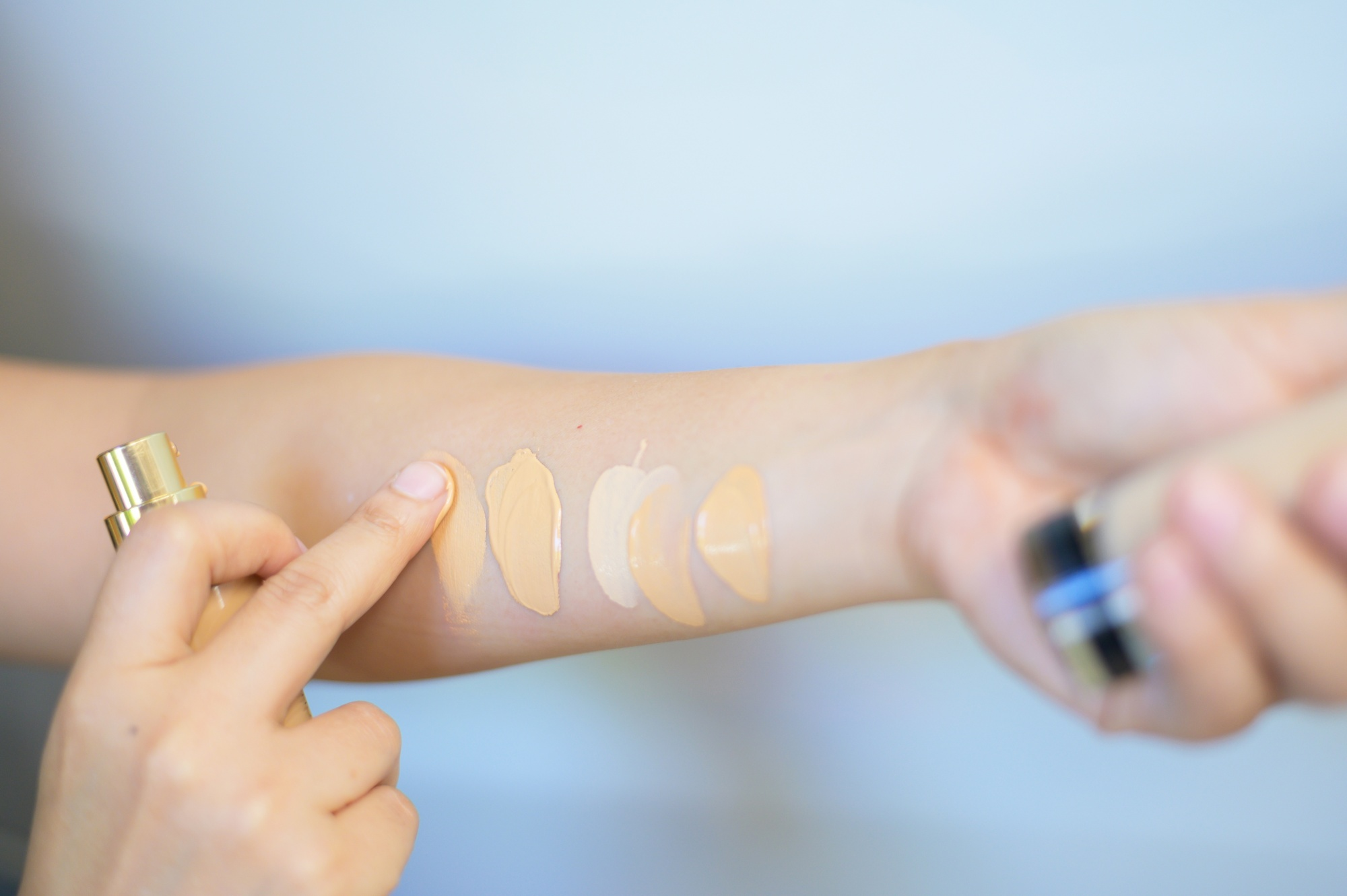 How to find the best foundation Foundation test and swatch for matched undertone skin
