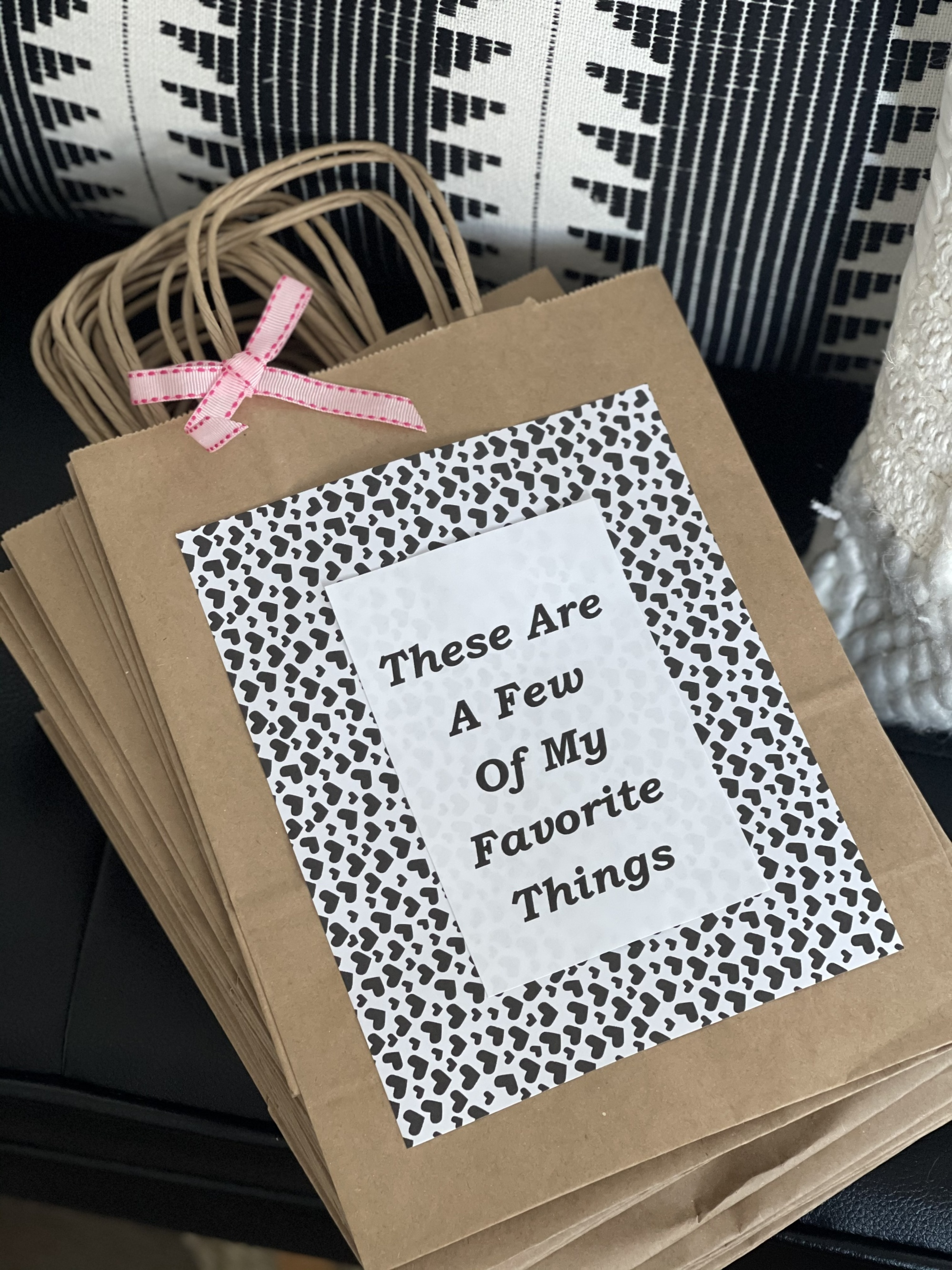 How to plan a Galentine's Day celebration your friends will love with a mimosa bar making These Are A Few of my Favorite Things party bags