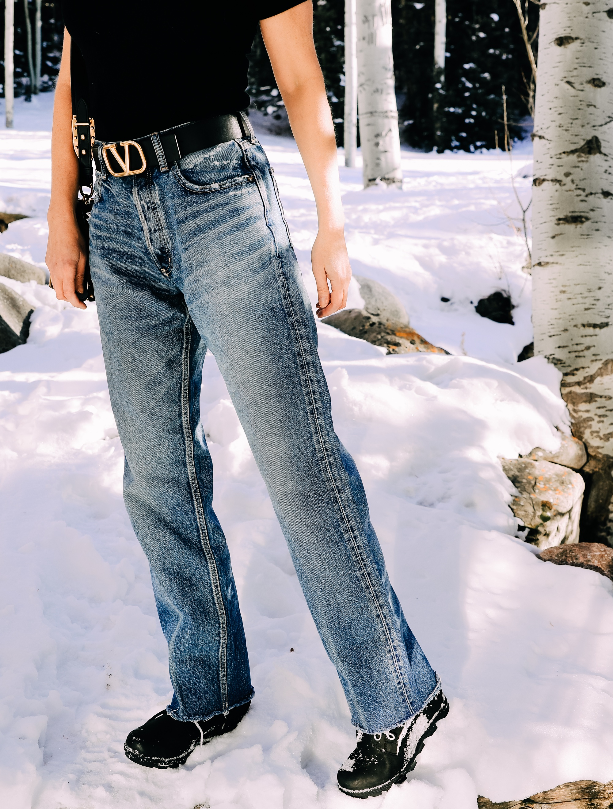 baggy, relaxed jeans by Moussy vintage on fashion over 40 blogger Erin Busbee featuring fashion trends 2021
