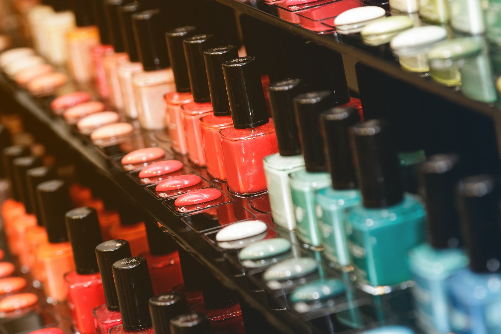 best affordable beauty finds nail polishes in a large store display