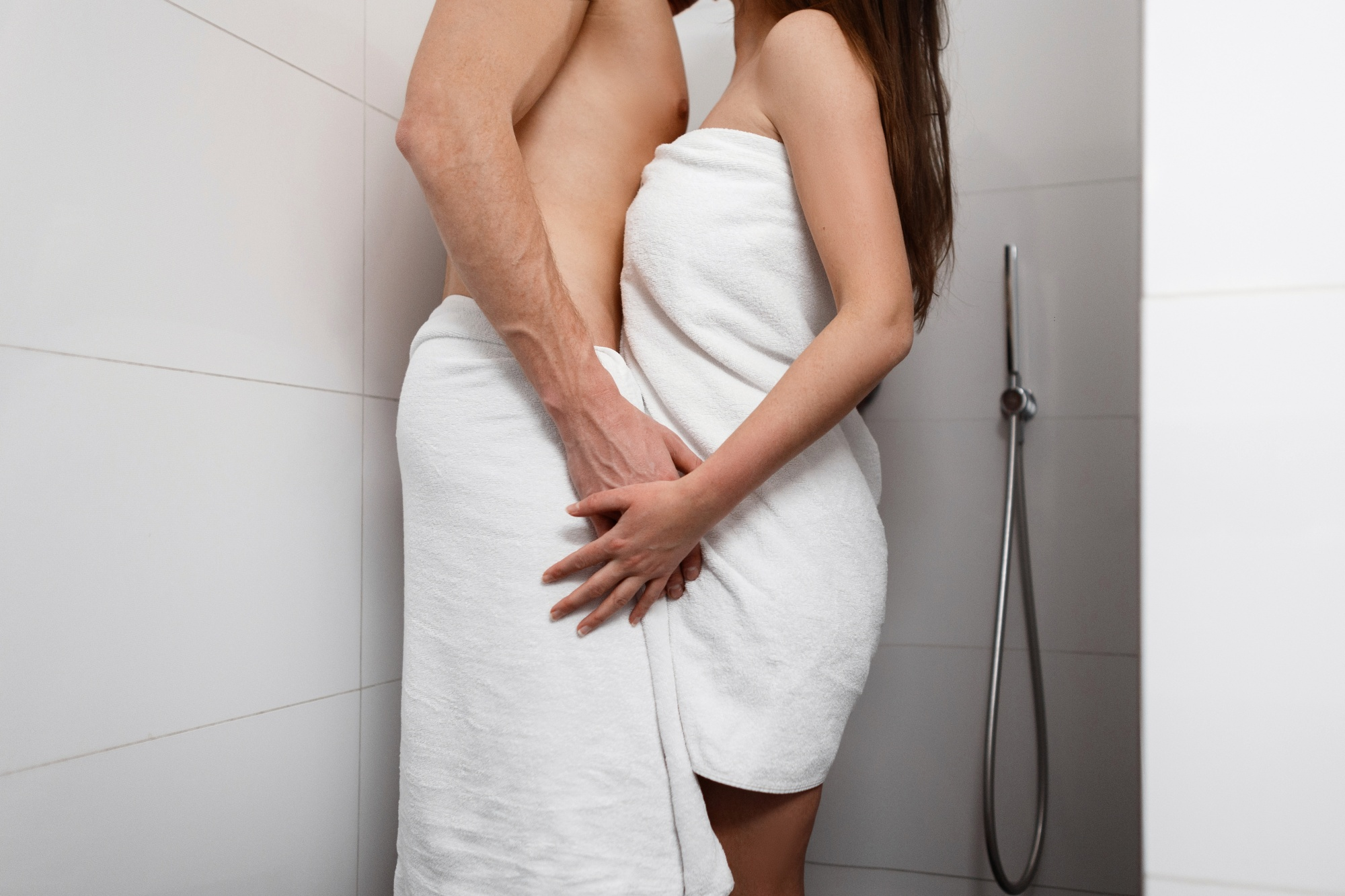 Let's talk about sex when being busy interferes with getting busy, a couple taking a shower together