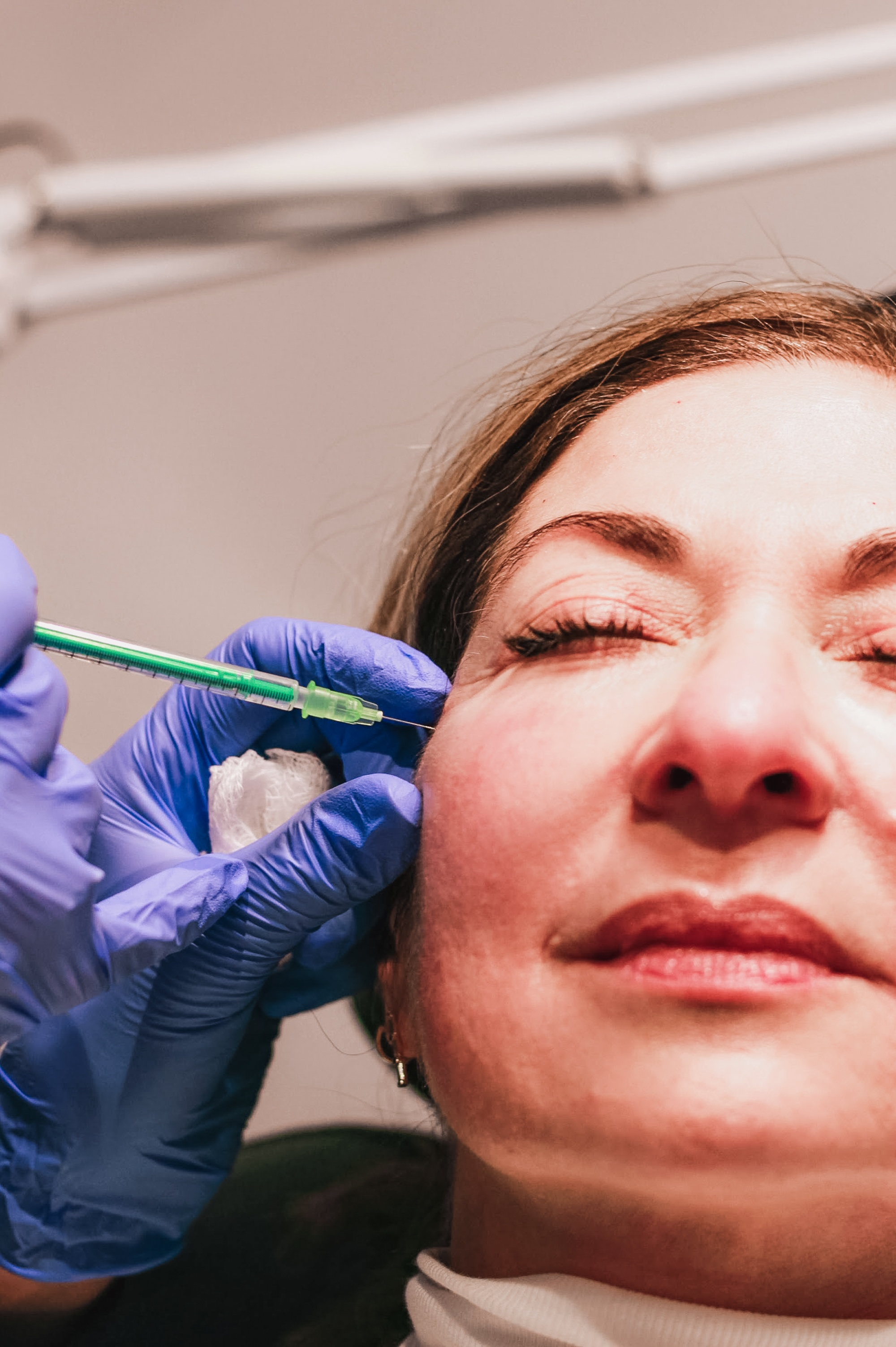 Botox done right Francine getting injection eye area
