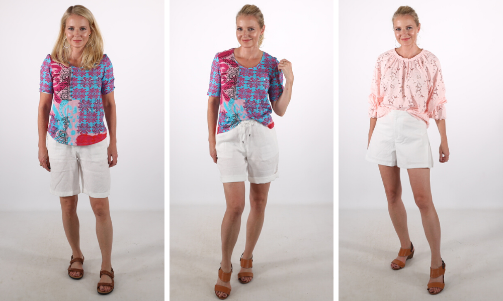 How to look younger, don't look frumpy, erin busbee, ill fitting shorts, white shorts over 40