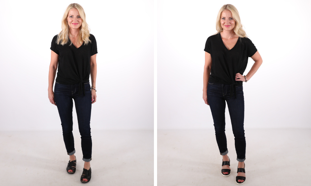 How to look younger, don't look frumpy, erin busbee, frumpy shoes