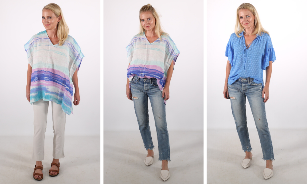 How to look younger, don't look frumpy, erin busbee, ponchos, don't wear ponchos