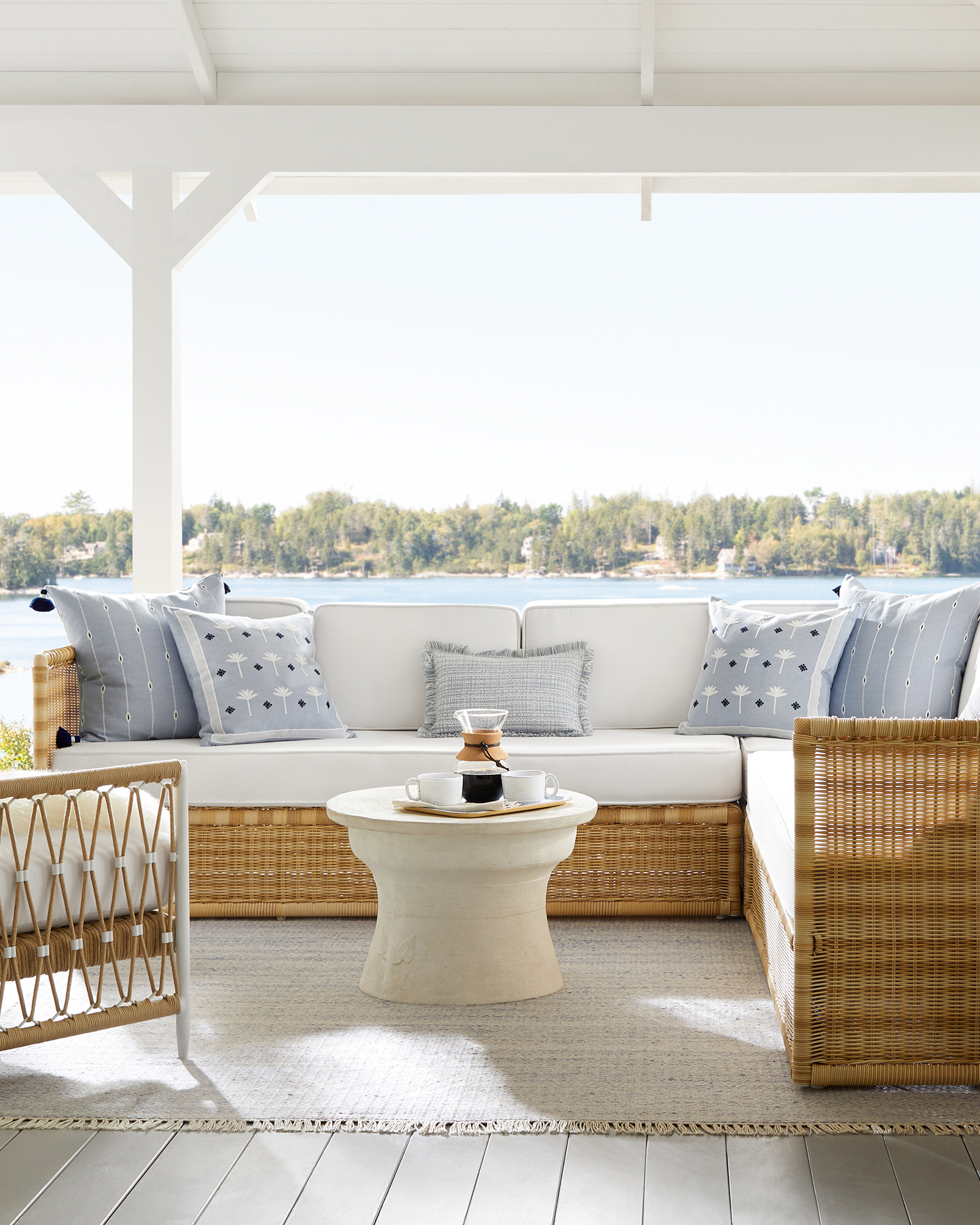 Create A Luxurious Outdoor Oasis Right In Your Own Backyard rattan outdoor sectional