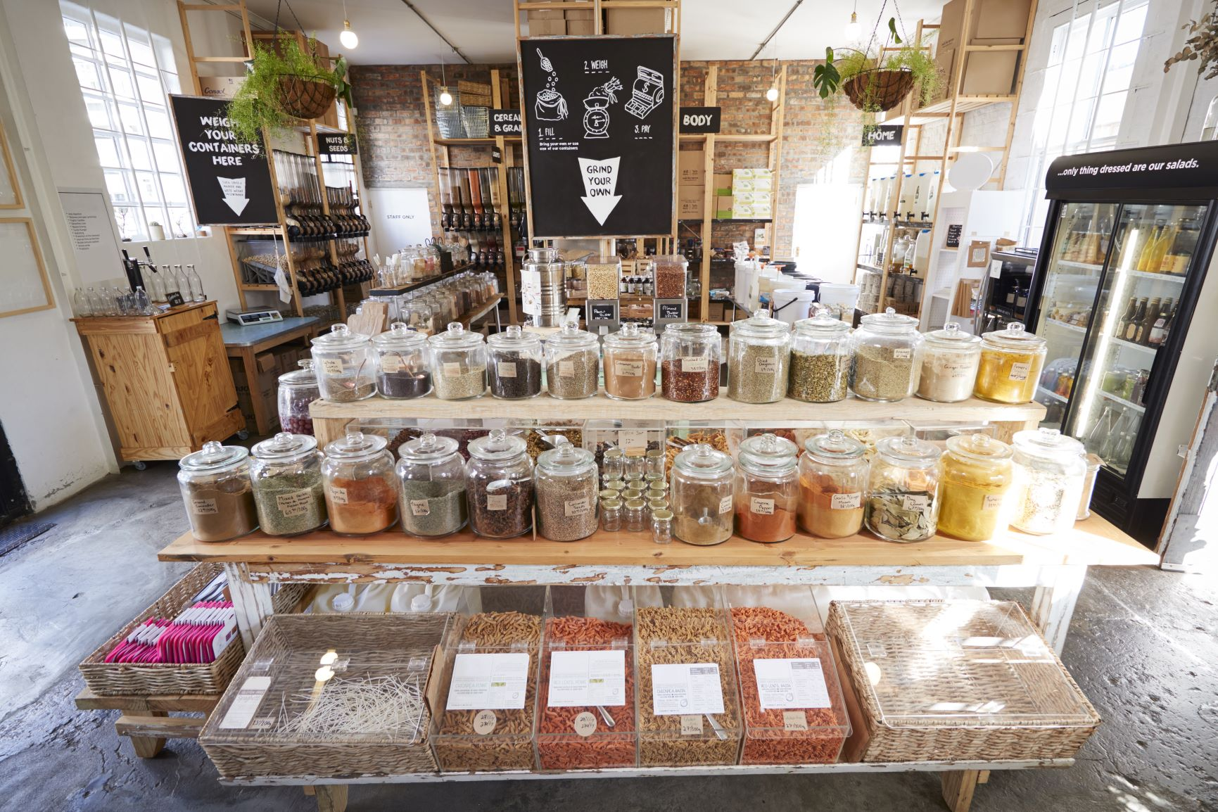 Supercharge your metabolism, rustic farmhouse bulk spice section