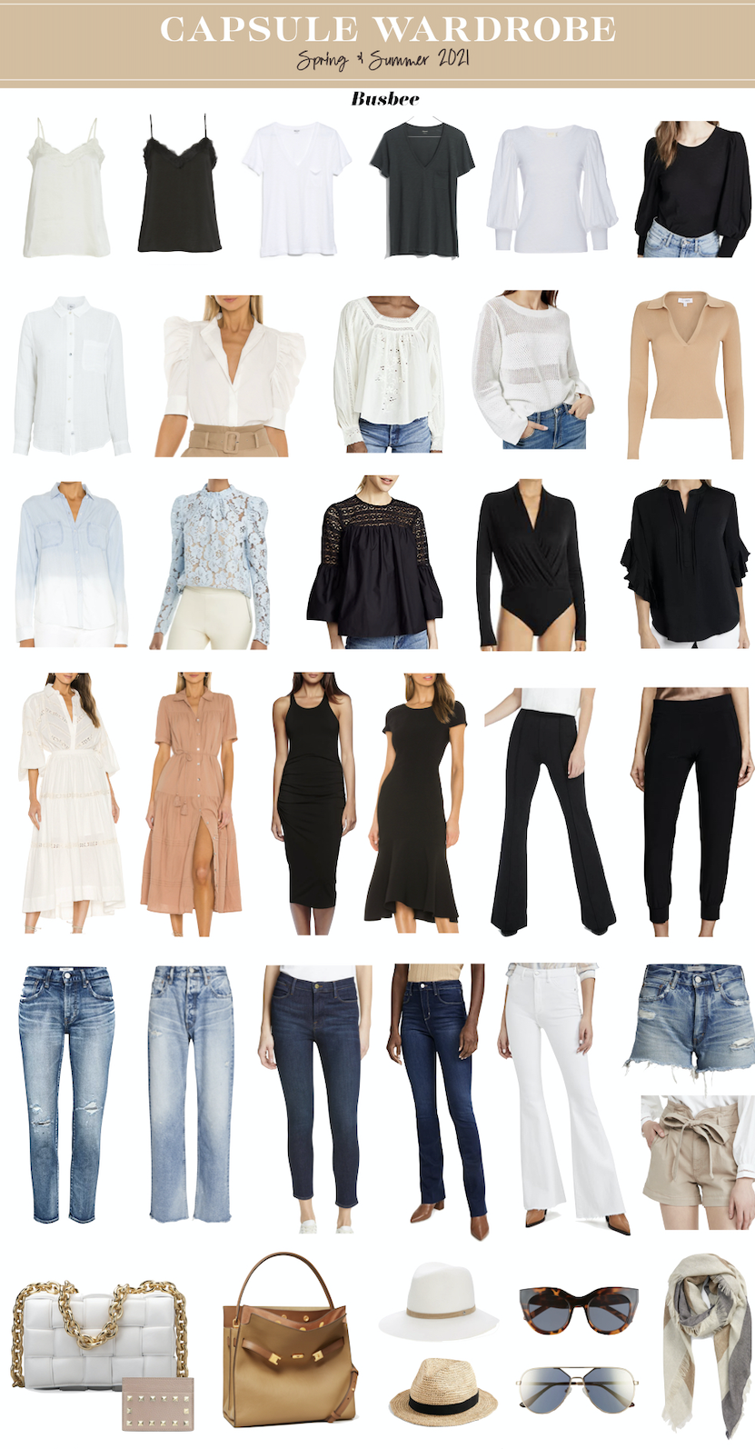 Spring and summer capsule wardrobe by Erin Busbee of Busbee STyle for women over 40 2021