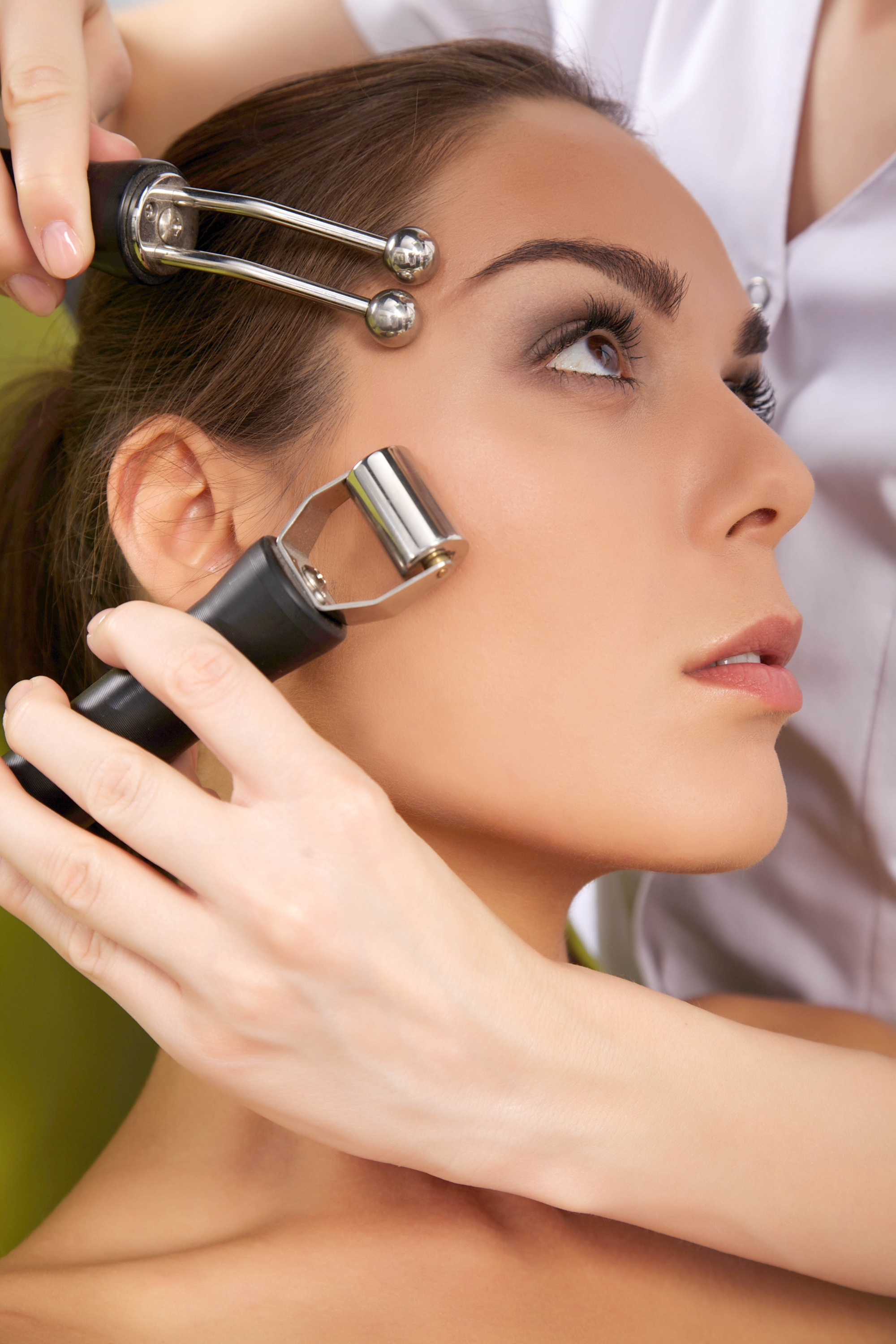 At home skin care devices skincare devices being used on a model