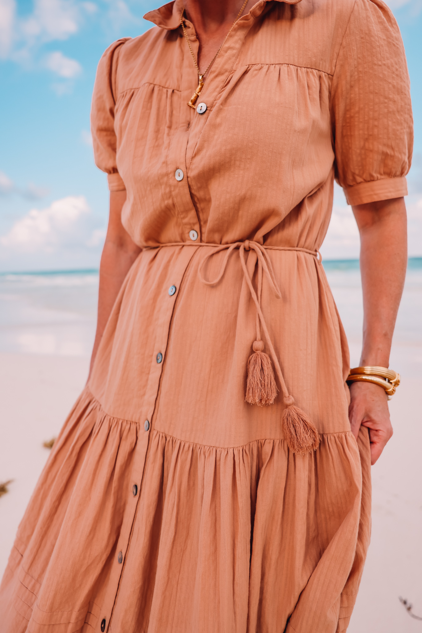 cleobella tiered midi dress, midi dress, summer dresses, mother's day dresses, what to wear mother's day, erin busbee