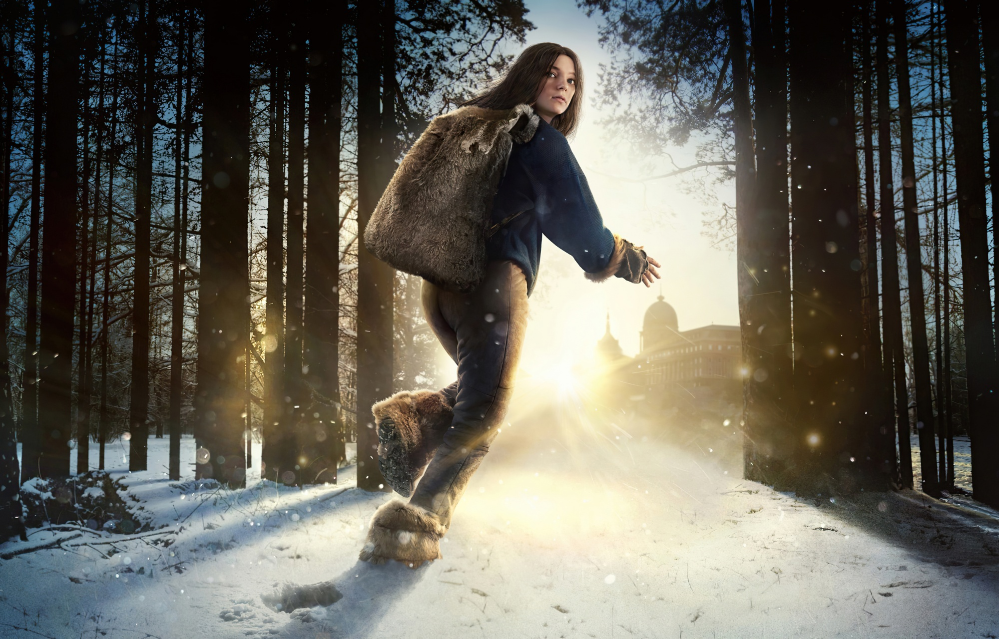 binge watch with your teens, Hanna, Amazon Prime, young girl running in the snow forest