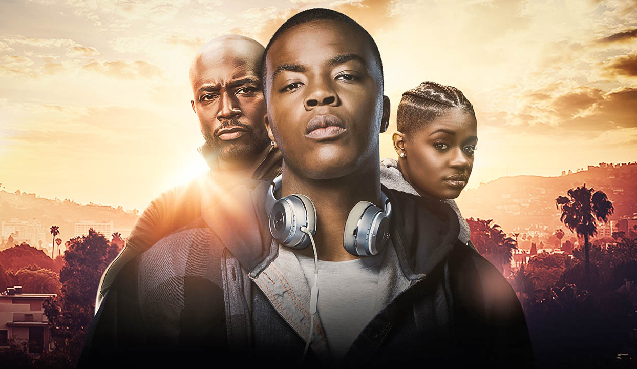 binge watch with your teens, All American, Amazon Prime, three young African American people in the sun