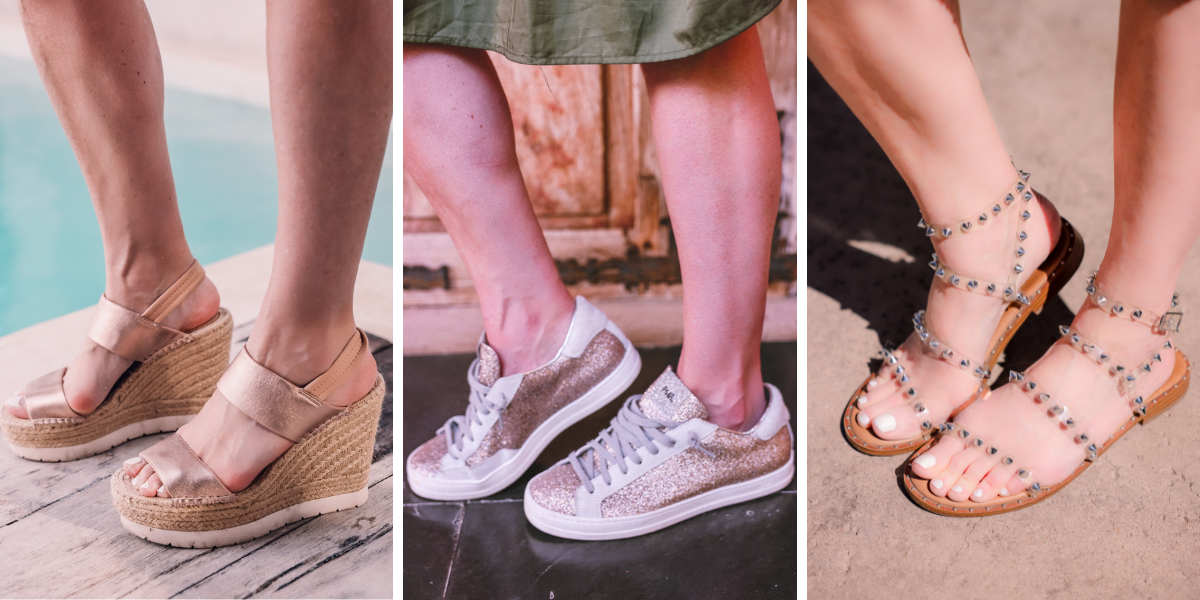 beach vacation outfits, what to wear mexico, what to pack mexico, what i wore mexico, erin busbee, kenneth cole espadrille wedges, p448 glitter sneakers, studded sandals steve madden