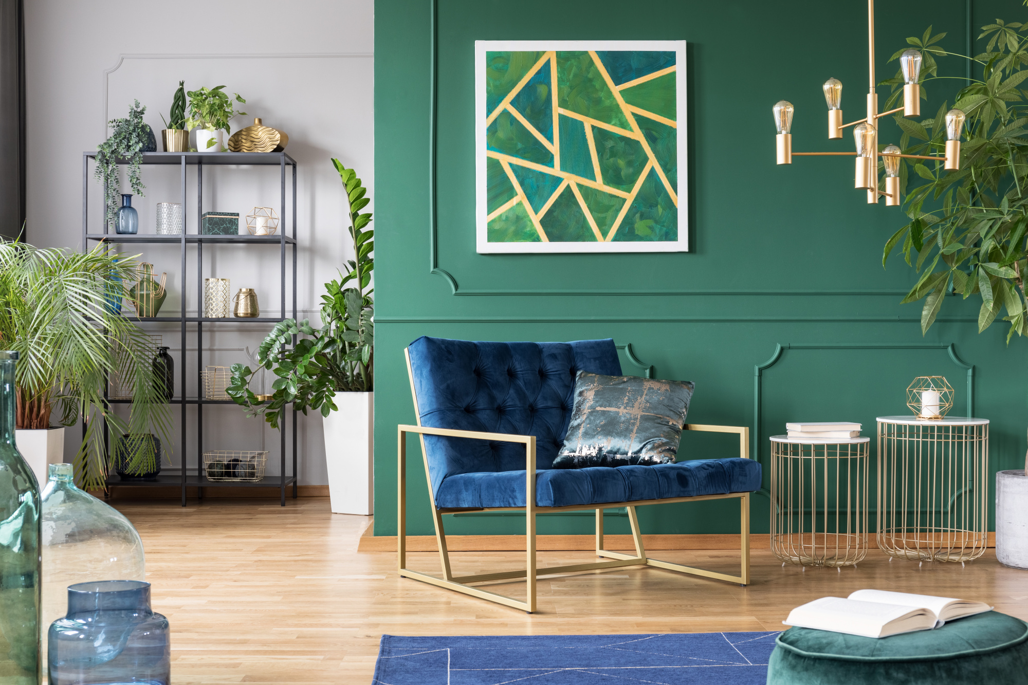 How To Mix Prints In Your Home Like A Pro, mixed prints and patterns for home decor, green and blue home decor
