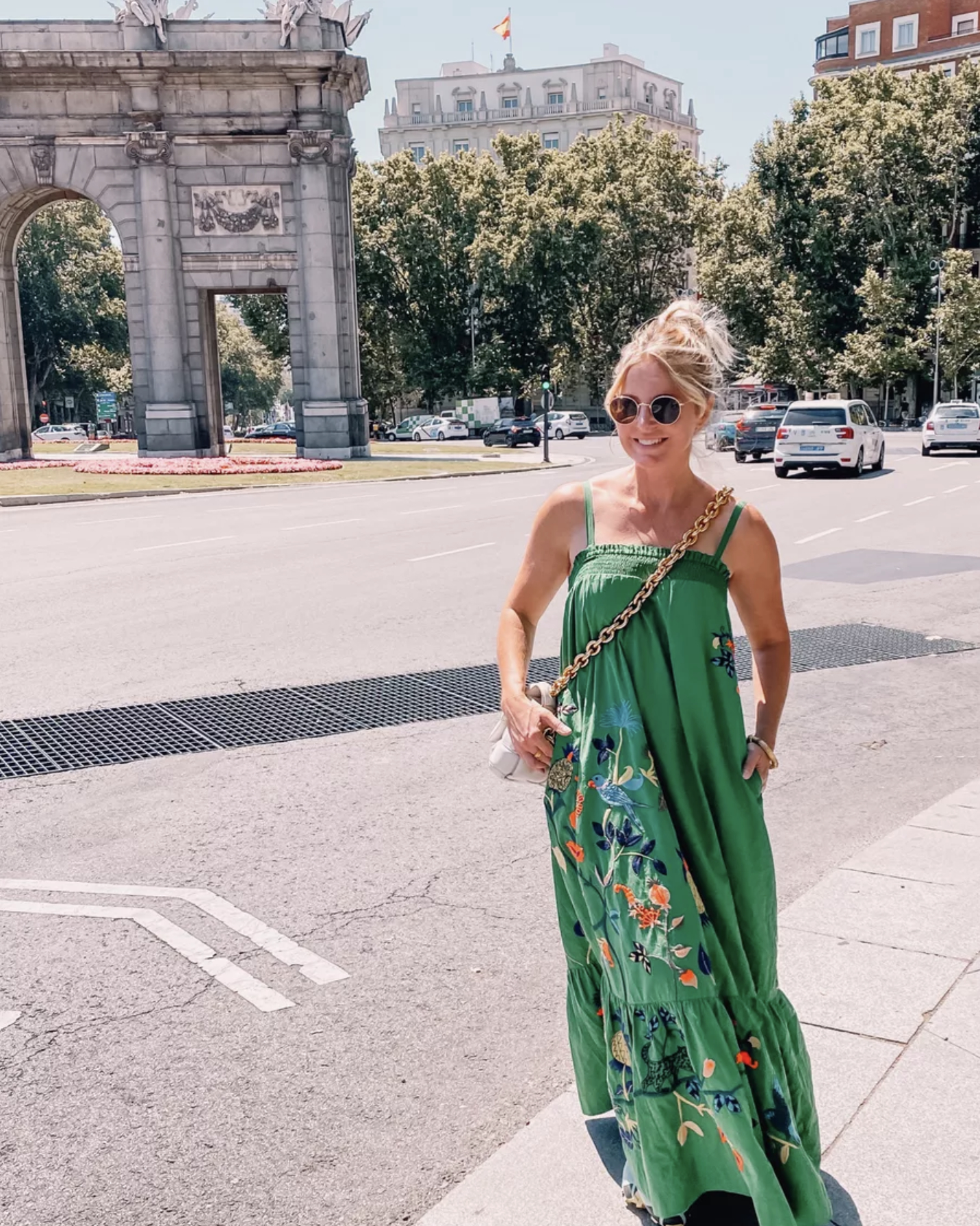 move to spain, move to madrid, why move to spain, where to move in spain, moving to spain, how to move to spain, where to live in spain, Erin Busbee, green anthropologie dress