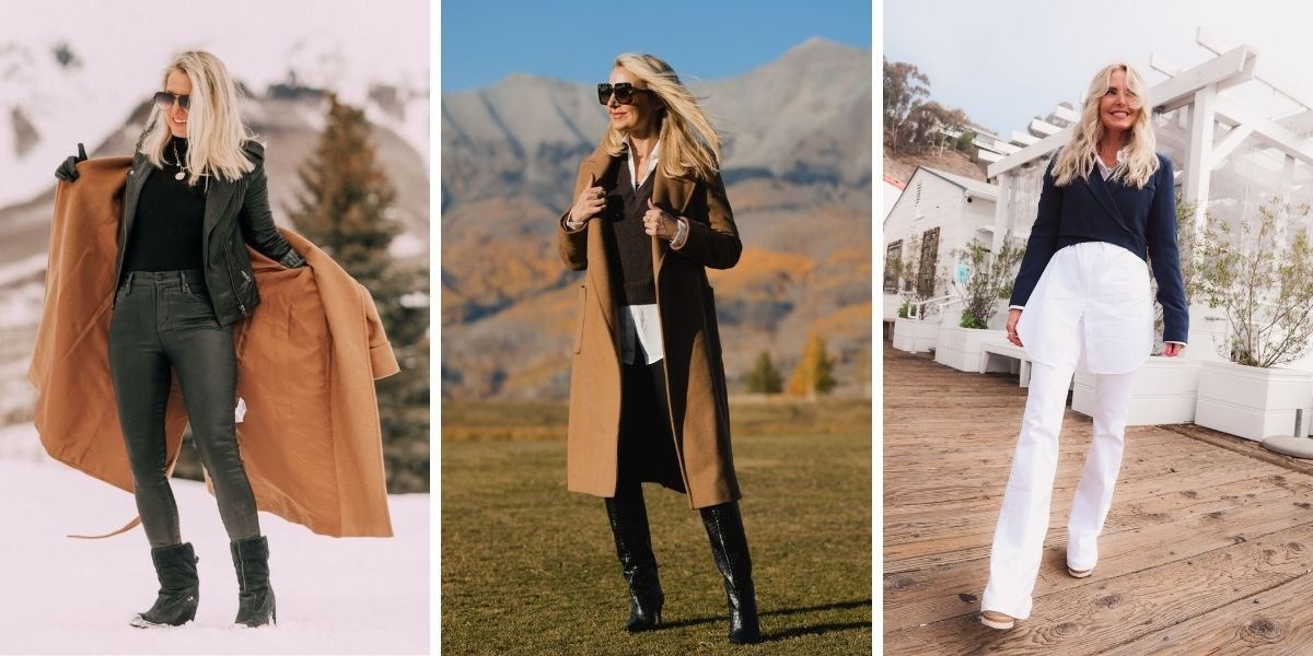 wearable fall trends, fall fashion trends, fall trends, wearable trends, how to wear trends, trends over 40, wearing trends over 40, erin busbee, tailoring, tailoring trend, how to layer tailored clothes, layered tailoring