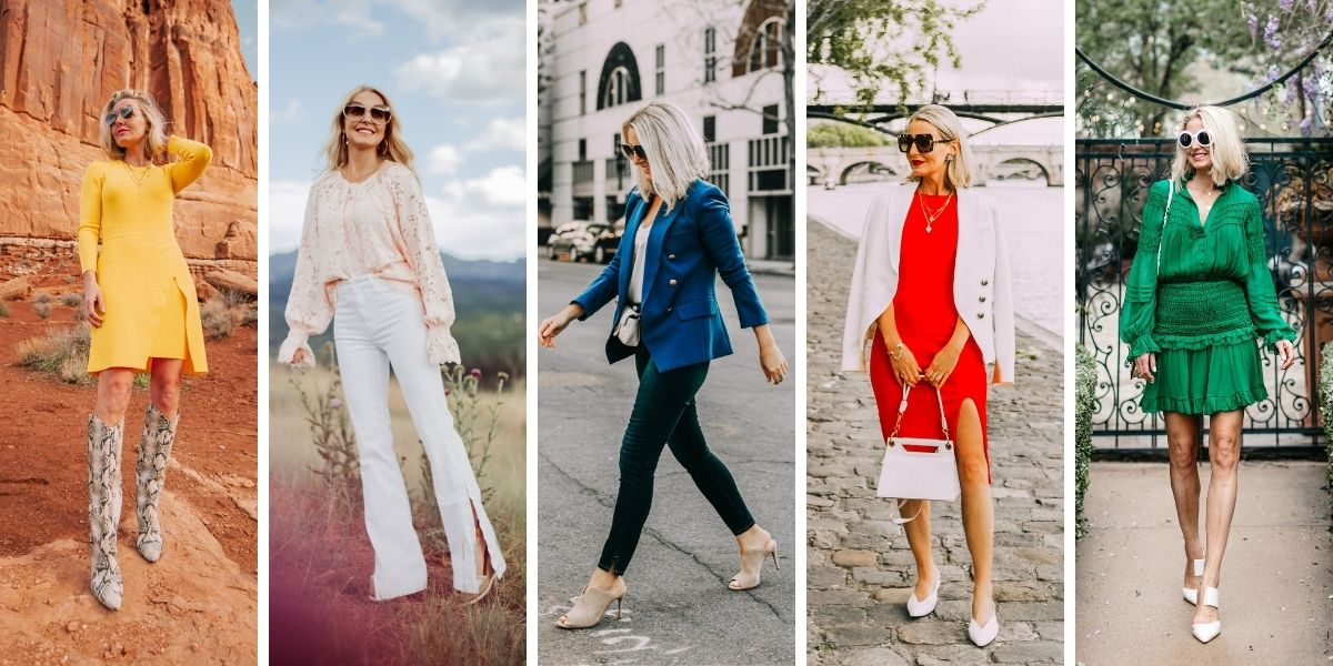 wearable fall trends, fall fashion trends, fall trends, wearable trends, how to wear trends, trends over 40, wearing trends over 40, erin busbee, saturated colors, color trends